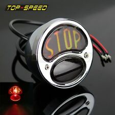 HOT Model A Ford Motorcycle Tail light BOBBER STOP Quality steel 12V light TOP