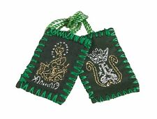 Green Wool Scapular (WC481) NEW