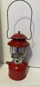 Vintage Red Coleman Model 200A Single Mantle Lantern 1969