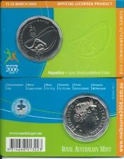 "2006 50 CENT MELBOURNE COMMONWEALTH GAMES IN CARD ""AQUATICS"" COIN:UNC"