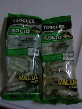 """Lot of 2 Bag of 20 Toggler Anchors Alligator AF8 Solid 1025 Lbs 5/16"""" Flanged"""