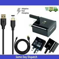 Samsung Fast Charger Adapter & 2M USB-C Data Cable For Galaxy Phones LOT
