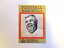 Football Immortals Weeb Ewbank  New York Jets Hall of Fame Hand Sign Autograph