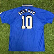 Vintage 1996 1997 Manchester United Beckham Blue Jersey Shirt Kit XL Away Third