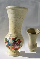 Vase en terre cuite peint craquelé décoratif