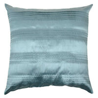 """4 X Home Cushion Covers Teal Pleated Covers Sofa Settee Bedroom 18"""" x 18"""" Sale"""
