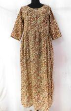 Indian Hand Block Print Cotton Women Wear Top Long Frock Casual Kurtis Tunic