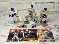 Starting Lineup Mike Piazza Lot of 3 Loose Figures & Cards SLU 1994 1995 1996