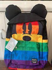 Neues AngebotDisney Parks Loungefly Rainbow Mickey Maus große Rucksack Tasche