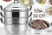32 cm Pot  Aluminum Steamer  Thai Rice Soup Stream vegetable Meat  Chinese Food