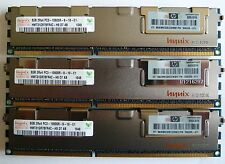 24GB (3x8GB)  DELL R5500 T5500 T7500  PC3L-10600R  DDR3 1333MHz ECC