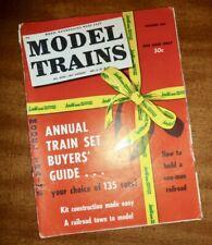 VINTAGE DECEMBER 1958 *MODEL TRAINS* MAGAZINE