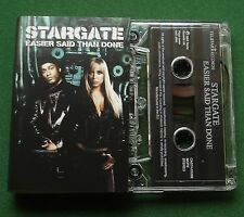 Stargate Easier Said Than Done 3 Versions Cassette Tape Single - TESTED