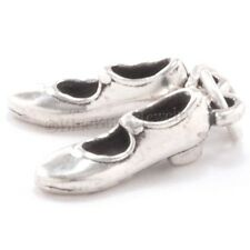 3D TAP DANCER SHOES Movable Pair 925 Sterling Silver Pendant Dance Charm Jewelry