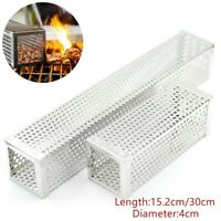 6/12inch Square BBQ Pellet Smoker Tube Stainless Steel Cold Smoke Generator Box