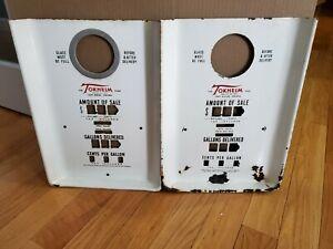 Vintage Tokheim Gas Pump Meter faces