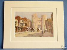 WESTGATE CANTERBURY DELUXE VINTAGE MOUNTED PRINT c1930