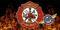 """Fire Dept """"custom personalize License Plate""""-Free Text"""