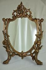 Rare Antique Art-Nouveau Bronze Decorative Mirror, Picture Frame c. 1910's