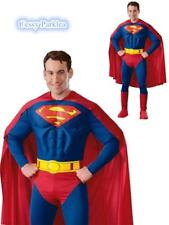 Deluxe Muscle Superman Adult Costume + Cape Boot-Covers S-XL