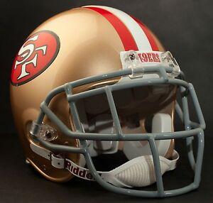 DEION SANDERS SAN FRANCISCO 49ers Schutt EGOP Football Helmet FACEMASK - GRAY