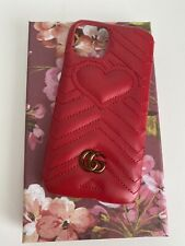 Gucci Case For Iphone 11 Pro Marmont Red Leather With Logi GG