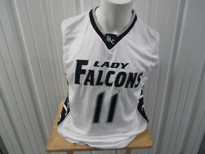 VINTAGE RUSSELL ATHLETIC ST. AUGUSTINE LADY FALCONS #11 SEWN BASKETBALL JERSEY