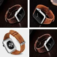 Genuine Leather Watch Band Wrist Strap For Apple Watch iWatch Series 4 3 2 1