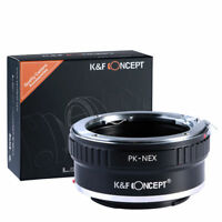 K&F Concept PK-NEX Metal Lens Adapter for Pentax K PK Lens to Sony NEX E Cameras