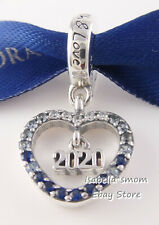 2020 NEW YEAR Authentic PANDORA Blue HEART Dangle Charm 798436C01 NEW w BOX!