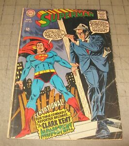 SUPERMAN #209 (Aug 1968) Low-Grade Condition Comic - The Clark Kent Monster