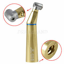 Gold Dentale Inner water Fiber Optic LED Low Speed Contra Angle Handpiece f/KAVO