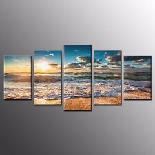 Framed Prints on Canvas Landscape LOVETREE Oil Painting Wall Art Decor-4pcs