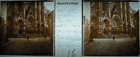 Platte Stereoskopische Fotografie Die 5 Porches Der Kathedralen Bourges 1929