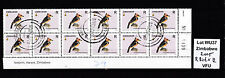 Zimbabwe 2005 Birds R-value in Block of 12 (sheet number), VFU (WU37)