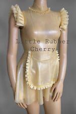latex rubber gummi 12-14s Maids/nurse Trans Circles Dress
