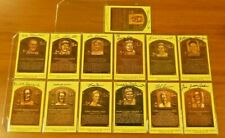 13 Different Signed Baseball HOF Plaques