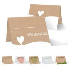 10 Tischkarten Namenskarte Platzkarte Geschenkanhänger Karte Blume Mohnblume rot