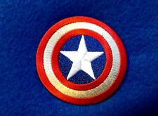 Captain America Iron On Embroidered Patch 2.5 X 2.5 Inch The Avengers Superhero