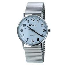 Ravel Men's Round White Dial Silver Expander Bracelet Watch R0229.15.1