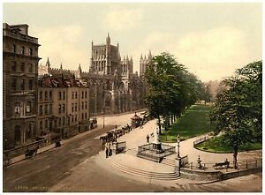 Bristol College Green photochrome print ca. 1890