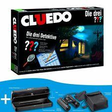 Cluedo los Tres ??? Investigadores Juego de Mesa Lote +Prismáticos+Geheimbox
