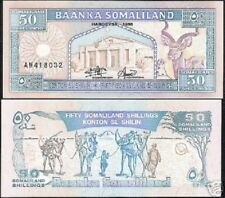 SOMALILAND 50 SHILLIN P7 1996 CAMEL BIRD UNC ANIMAL AFRICA CURRENCY MONEY NOTE