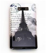Case f LG Optimus L7 P700 P705 Schutzhülle Tasche Cover Paris Eiffelturm s/w