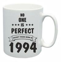 25th Novelty Birthday Gift Present Tea Mug No One Is Perfect 1994 Coffee Cup