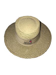 New AHEAD Headgear Fine Hats MCI Heritage Hilton Head  Golf Straw Hat- M/L