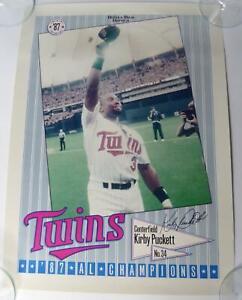 Kirby Puckett Minnesota Twins American League Champions Poster 1987 15x20