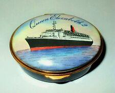 KINGSLEY ENAMEL BOX- CRUISE SHIP - LUXURY OCEAN LINER - QE2 - QUEEN ELIZABETH 2