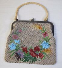 Collectible Europe Handmade Ornamented Micro Glass Beaded Women's Handbag Purse