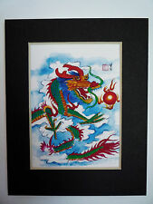 11x14 Colorful Dragon good luck Feng shui Art Asian - Chinese Brush Painting